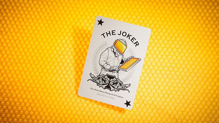 Bicycle Honeybee (Yellow) Playing Cards