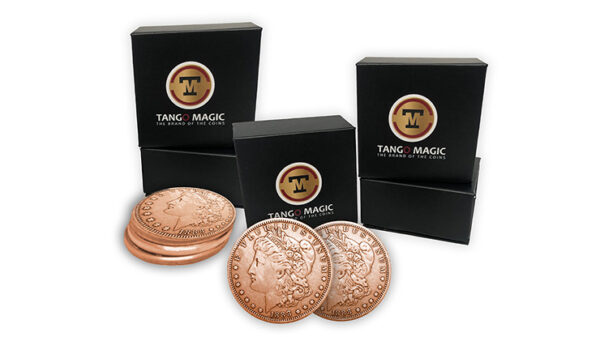 Copper Morgan Expanded Shell plus 4 four Regular Coins by Tango Magic