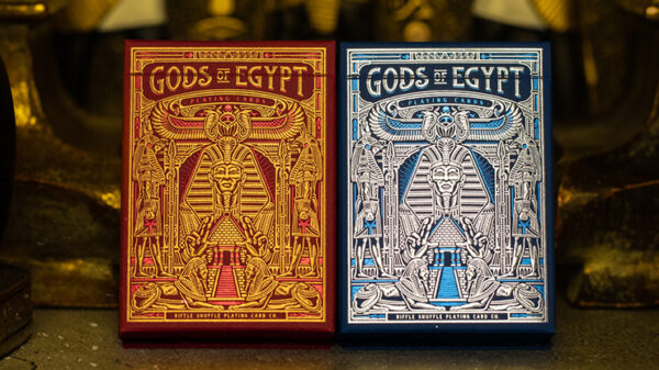 Gods of Egypt (Red) Playing Cards by Divine Playing Cards