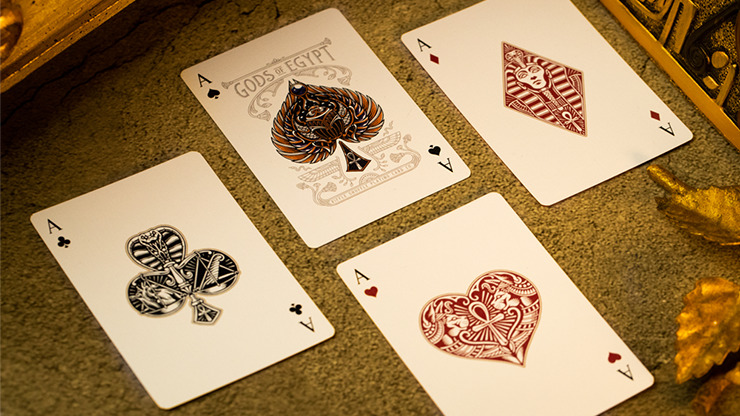 Gods of Egypt (Blue) Playing Cards by Divine Playing Cards