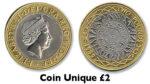 Coin Unique 2 Pound Magic Trick