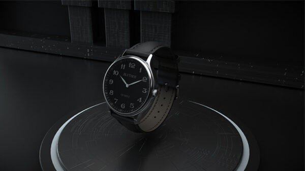 Infinity Watch V3 - Silver Case Black Dial / STD Version by Bluether Magic