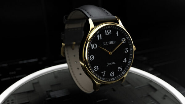 Infinity Watch V3 - Gold Case Black Dial / PEN Version by Bluether Magic