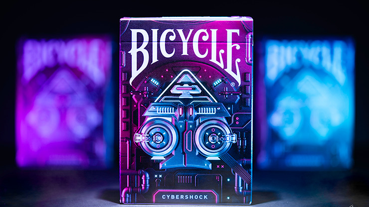 Gilded Cobalt Bicycle Cybershock Playing Cards