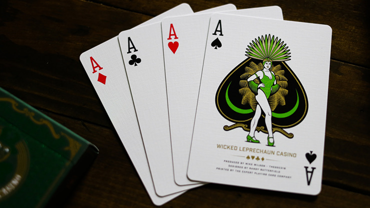Slot Playing Cards (Wicked Leprechaun Edition) by Midnight Cards