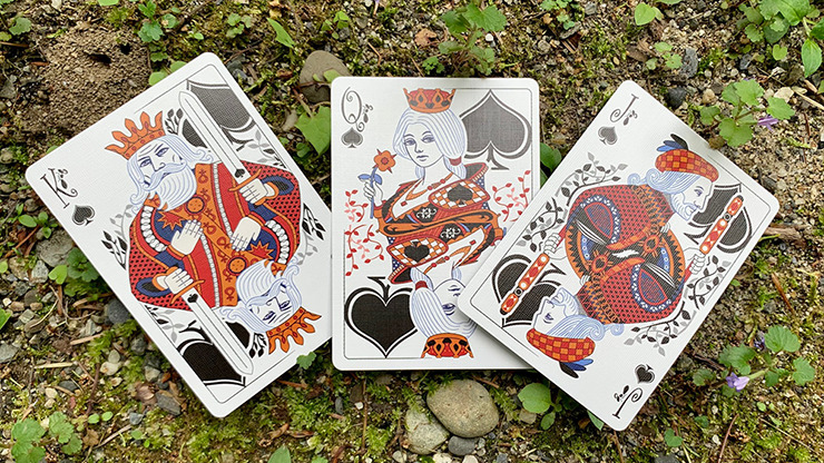 Gilded Bicycle Ant (Red) Playing Cards