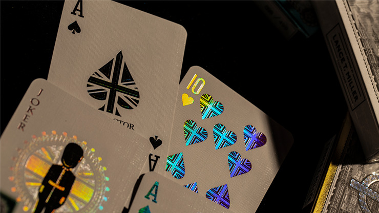 London Diffractor Silver Playing Cards