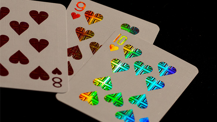 London Diffractor Gold Playing Cards