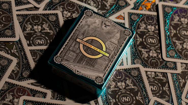 London Diffractor Ice Blue Playing Cards
