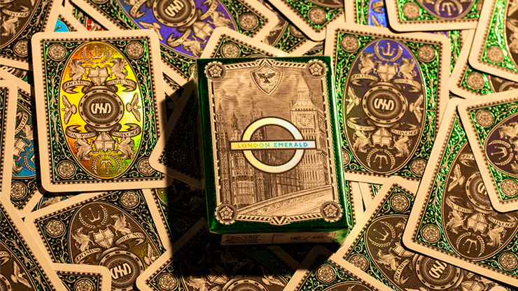 London Diffractor Emerald Playing Cards