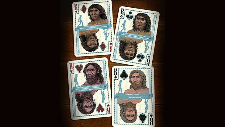 Evolution Of Mankind Playing Cards