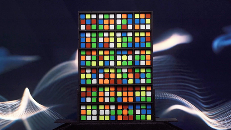 RUBIKS WALL Complete Set by Bond Lee (Two Part Item)