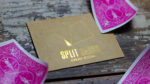 COLORED Split Cards 10 ct. (Fushia) by PCTC