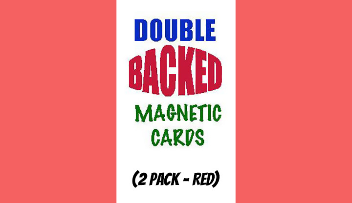 Magnetic Cards (2 pack/Red) by Chazpro Magic.