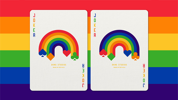 DKNG Rainbow Wheels (Purple) Playing Cards by Art of Play