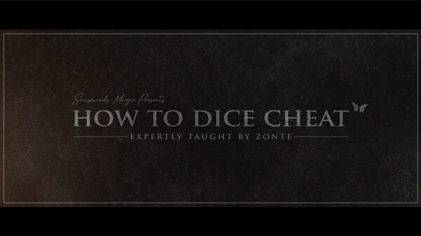 How to Cheat at Dice Black Leather (Props and Online Instructions) by Zonte and SansMinds
