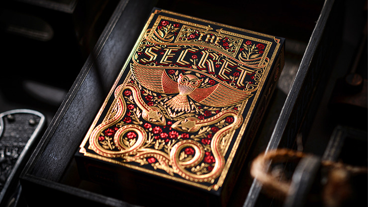 The Secret (Scarlet Edition) Playing Cards by Riffle Shuffle