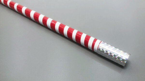 The Ultra Cane (Appearing / Metal) Red/ White Stripe by Bond Lee