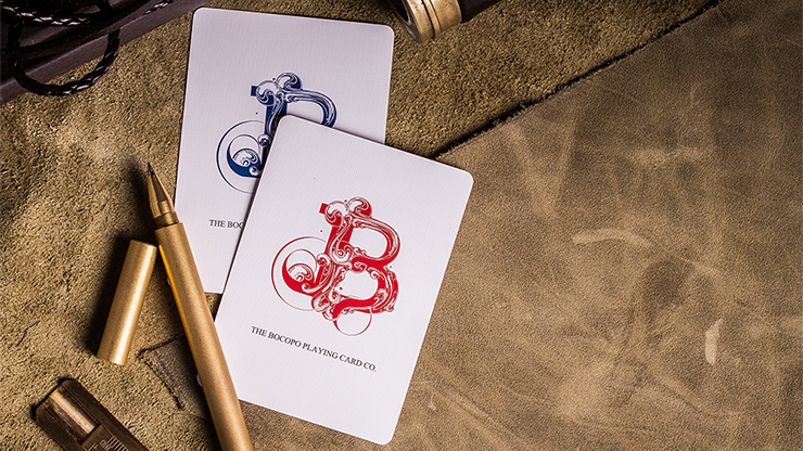 Steel Playing Cards (Blue) by Bocopo