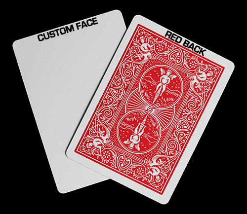 Custom Face with Red Bicycle Back Playing Cards