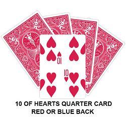 10 Of Hearts Quarter Gaff Card TEST