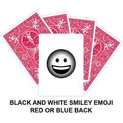 Black And White Smiley Emoji Card