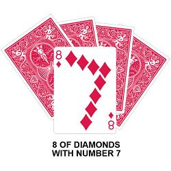 Eight Of Diamonds With Seven Card