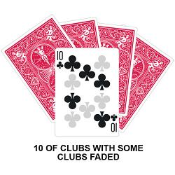 Ten Of Clubs With Clubs Faded Card
