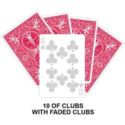 Ten Of Clubs With Faded Clubs Card