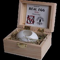 Real Egg (White) by Gianfranco Ermini & Stratomagic - Trick