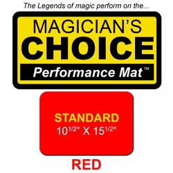 Standard Close-Up Mat (RED - 10.5x15.5) by Ronjo - Trick
