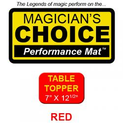 Table Topper Close-Up Mat (RED - 7x12.5) by Ronjo - Tric
