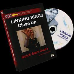 Close Up Linking Rings SILVER(BLACK BAG) (Gimmicks & DVD, SPANISH and English) by Matthew Garrett - Trick