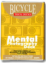 Mental Photography Deck Bicycle Red