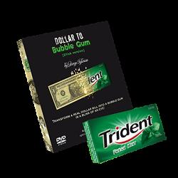 Dollar to Bubble Gum (Trident) by Twister Magic - Trick