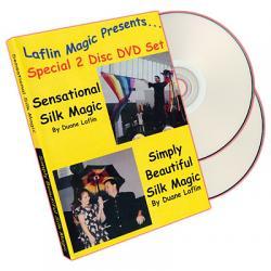 Sensational Silk Magic And Simply Beautiful Silk Magic by Duane Laflin - DVD