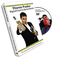 Etienne Pradier Signed Card in Sealed Bottle, DVD