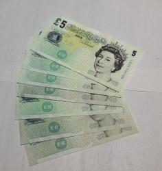Flash 5 Pound Notes x 8