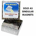 Neo Magnets Singular 30x25x1mm