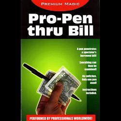 Pro Pen Through Bill by Premium Magic - Trick