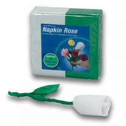 Napkin Rose - Refill (White) by Michael Mode - Trick