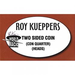 Two sided Canadian Quarter - (Heads) - Trick