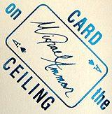 Card On Ceiling - Michael Ammar