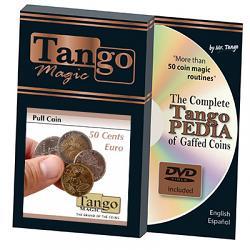 Pull Coin (50 Cent Euro w/DVD)(E0046) by Tango Magic -Trick