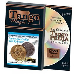 American Scotch & Soda (D0124)(MAGNETIC w/DVD) by Tango Magic - Tricks