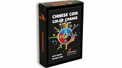 Chinese Coin Color Change (Gimmicks and Online Instructions) by Joker Magic - Trick