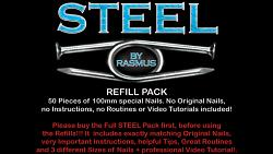 STEEL Refill Nails 50 ct. (100mm) by Rasmus - Trick