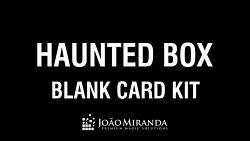 Blank Card Kit for Haunted Box by João Miranda - Trick