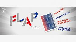 Modern Flap Card (Red to Blue Face Card) by Hondo